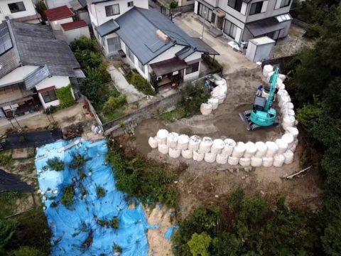 熊野町林地崩壊対策工事