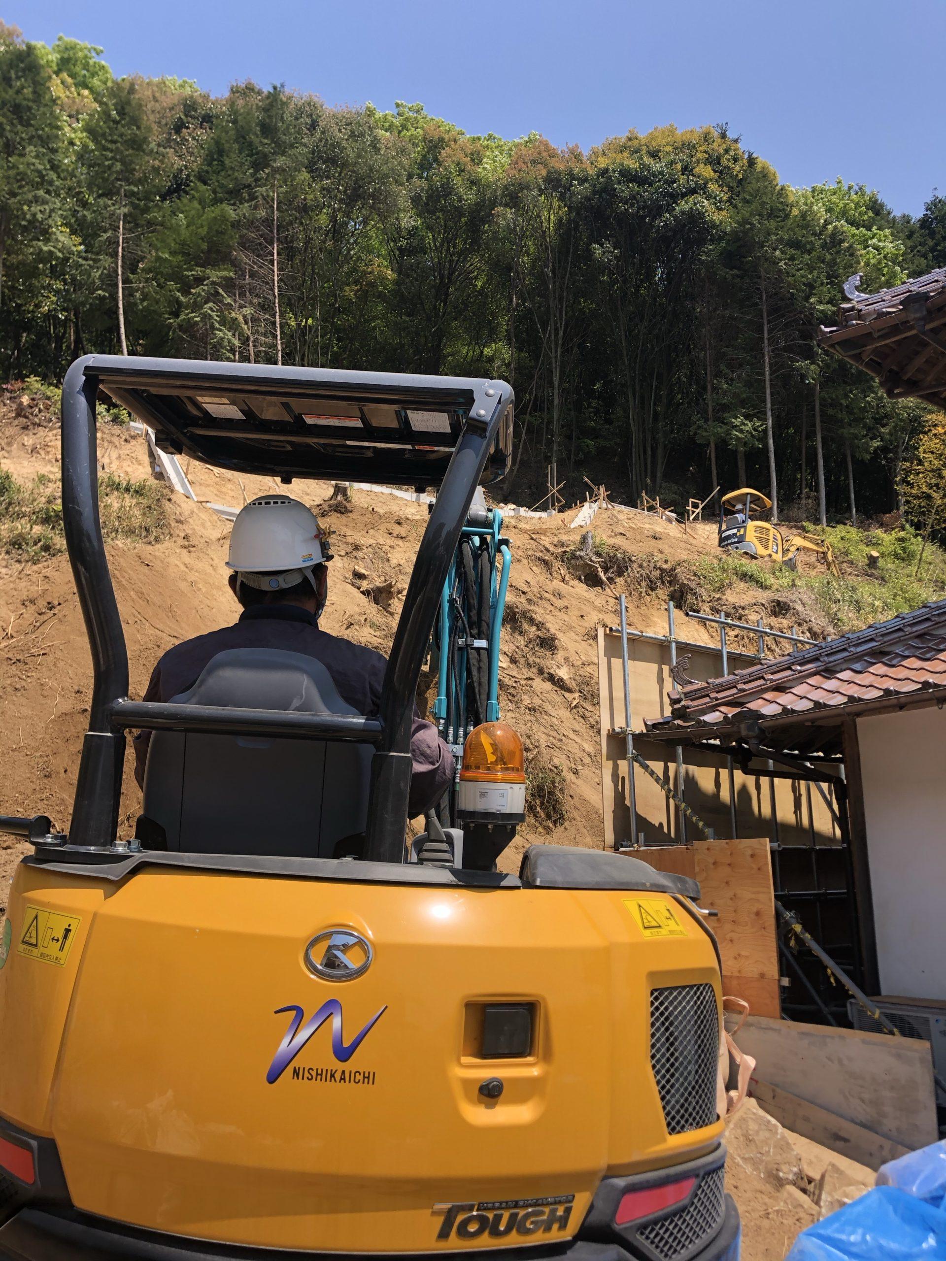 急傾斜地崩壊対策工事