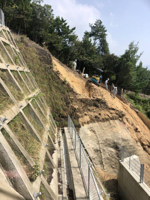 安佐北区急傾斜地崩壊対策工事